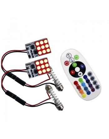 MODULO LEDS RGB CONTROLADOR Y ADAPTADOR PUNTAS DOBLES