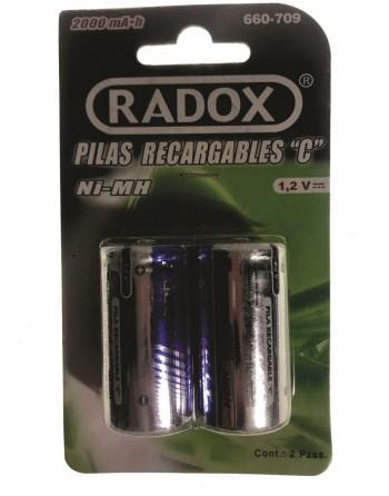Baterias TIPO C Recargables NI-MH 2000mah Paquete De 2