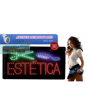 Anuncio Luminoso Led ESTETICA