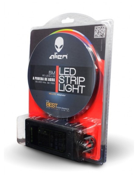KIT CINTA TIRA EN ROLLO LEDS 5050 IP65 BLANCO CALIDO + ELIMINADOR