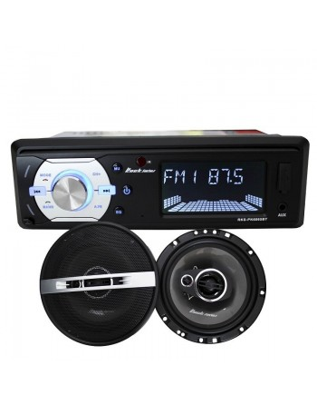 "COMBO AUTOESTEREO + BOCINAS 6.5"" Bluetooth AUX USB SD 6065"