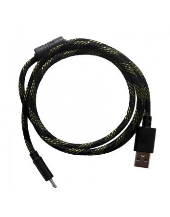 CABLE USB MICRO USB CON FLITRO AMARILLO