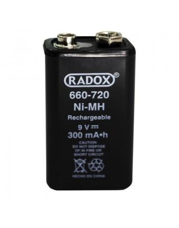 Bateria PILA CUADRADA Recargable NI-MH 9V 300MAH