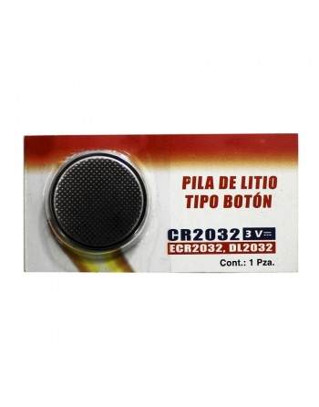PILA DE LITIO 3V TIPO BOTON CR 2032