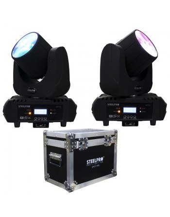 KIT 2 CABEZAS LED BEAM 90 EN CASE SPOT-90K