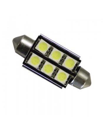 FOCO FESTOON 6 LED 5050 CON DISIPADOR
