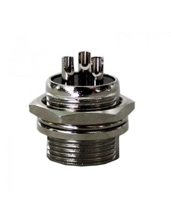 Plug CHASIS para Micrófono 3 Puntas Metálico
