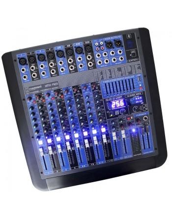 Mezcladora Amplificada Stereo 12ch BLUETOOTH USB 700w RMS