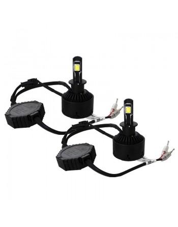 KIT 2 FOCOS LED H3 6000k 2 CARAS
