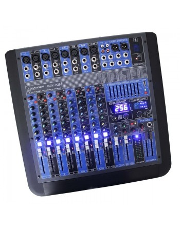 Mezcladora Amplificada Stereo 12ch BLUETOOTH USB 1000w RMS