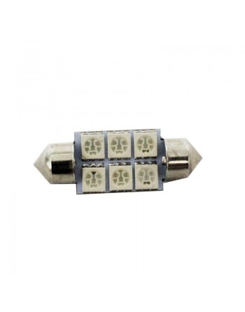 FOCO 6 LED SMD TIPO FESTOON AZUL