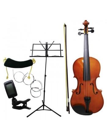 Violine 4/4 ACUSTICO de pino con afinador y atril partitura