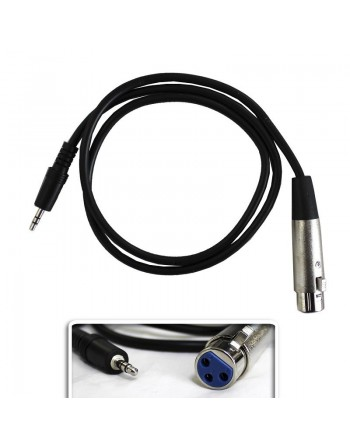 EXTENSION PLUG 3.5 STEREO A CANNON HEMBRA 90CM